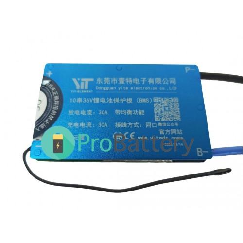 BMS 36V Li-ion 10S 30A  датчик температуры в интернет-магазине ProBattery.com.ua